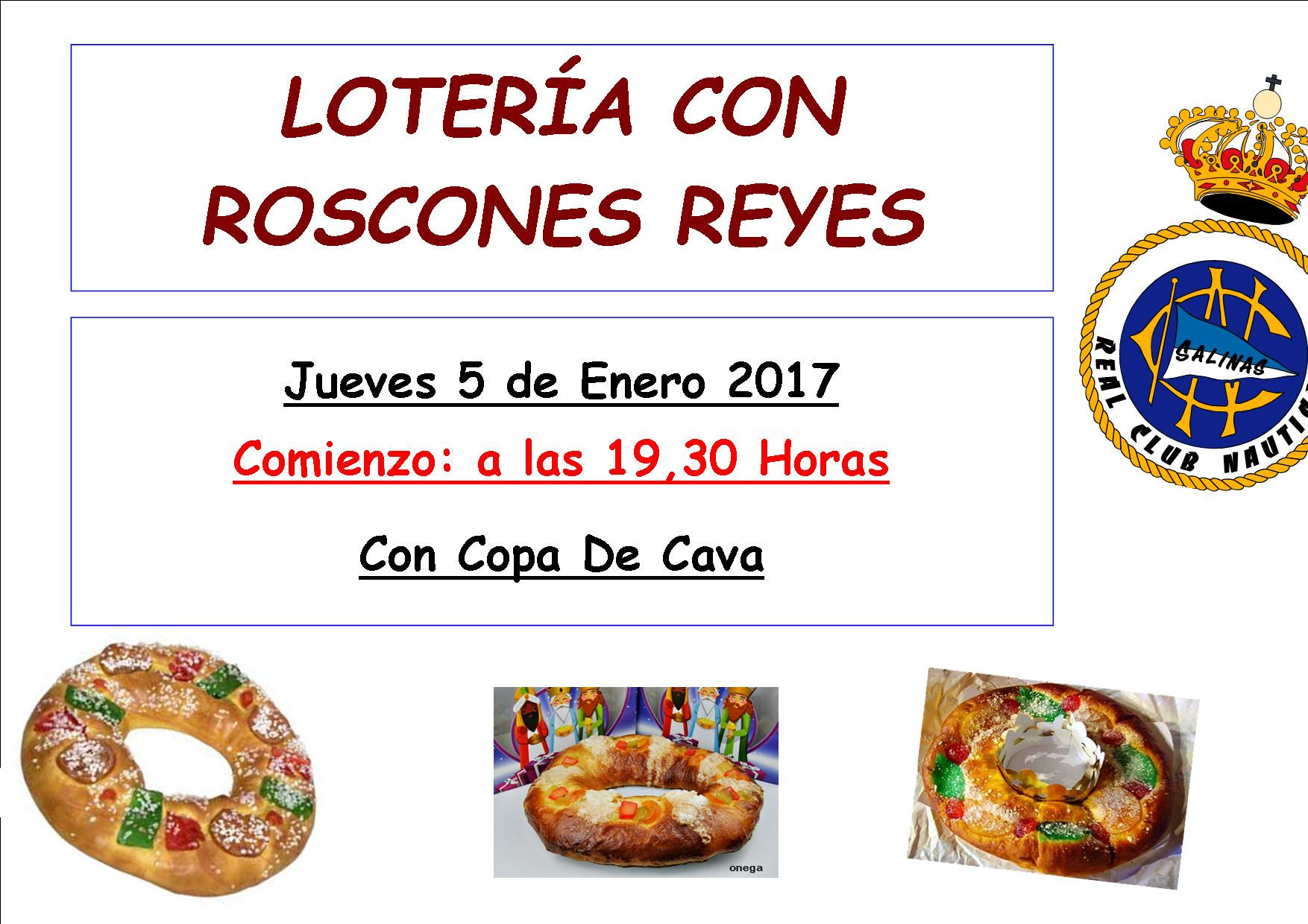 Loteria con roscones de reyes real club n utico salinas - Roscones de reyes ...